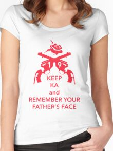 Keep KA - red edition Women's Fitted Scoop T-Shirt