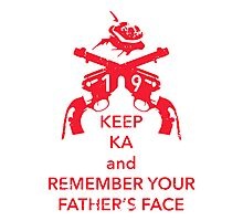 Keep KA - red edition Photographic Print