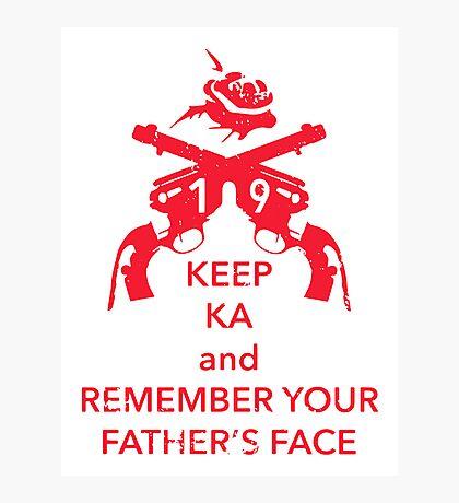 Keep KA - red edition Photographic Print