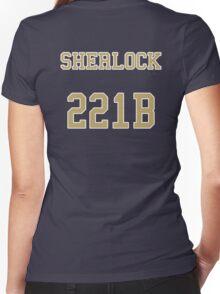 Sherlock 221B Jersey Women's Fitted V-Neck T-Shirt