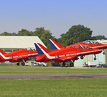 Rotate!!  - The Red Arrows - Dunsfold 2013 by Colin J Williams Photography