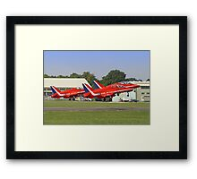Rotate!!  - The Red Arrows - Dunsfold 2013 Framed Print