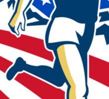 American Marathon Runner Running Retro Sticker
