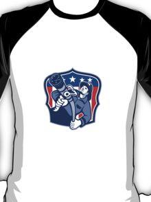 American Fireman Firefighter Fire Hose T-Shirt