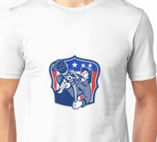 American Fireman Firefighter Fire Hose Unisex T-Shirt