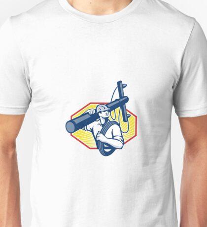 Power Lineman Repairman Carry Electric Pole Unisex T-Shirt
