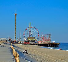 Summer Fun - Funtown Pier Seaside Heights NJ by Paul Gitto