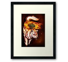 Okami wolf realistic style Framed Print