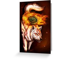 Okami wolf realistic style Greeting Card