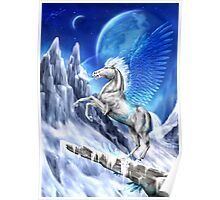 Fantasy ice winged horse Poster