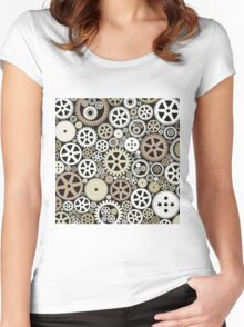 Background of gears Women's Fitted Scoop T-Shirt