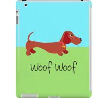 Woof Woof (Sausage dog) iPad Case/Skin