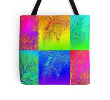 Trees in South Australia - an andy warhol patchwork effect Tote Bag