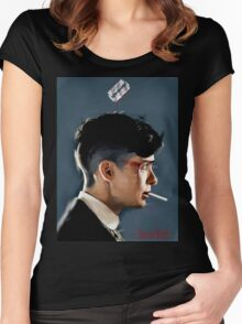 Peaky Blinders - clean background Women's Fitted Scoop T-Shirt