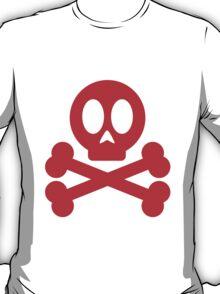 Poison Skull and Cross Bones ( Red ) T-Shirt