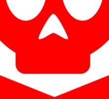 Poison Skull and Cross Bones ( Red ) Sticker
