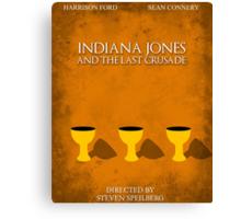 Indiana Jones - Last Crusade Minimal Canvas Print