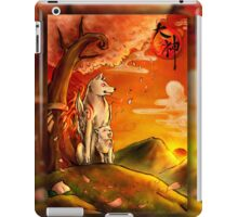 Okami wolf and pup iPad Case/Skin