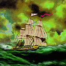 HMS Boreas, captain Horatio Nelson iPad/iPhone/iPod cases by Dennis Melling
