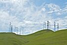 Foothills and Transmission Lines by John Butler