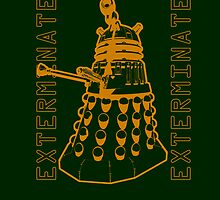 Exterminate Classic Doctor Who Dalek Graphic by astralsid