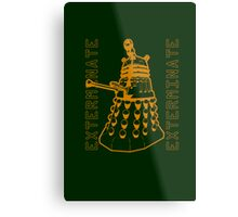 Exterminate Classic Doctor Who Dalek Graphic Metal Print