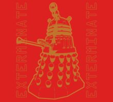 Exterminate Classic Doctor Who Dalek Graphic Kids Tee