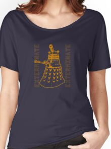 Exterminate Classic Doctor Who Dalek Graphic Women's Relaxed Fit T-Shirt