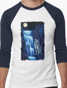 Fall wolf under the moon Men's Baseball ¾ T-Shirt