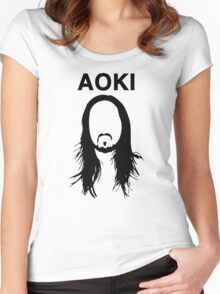Steve Aoki (with text) Women's Fitted Scoop T-Shirt