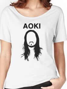Steve Aoki (with text) Women's Relaxed Fit T-Shirt