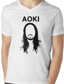 Steve Aoki (with text) Mens V-Neck T-Shirt