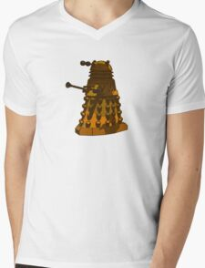Funky Camo Sneaky Dalek Mens V-Neck T-Shirt