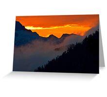 Sunset on Tantalus Greeting Card