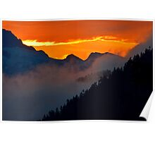 Sunset on Tantalus Poster