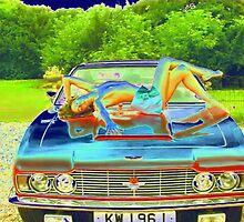 Photo Study 'Topless Girl on Aston Martin' by BBBango
