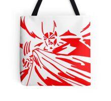 Batman in Red Tote Bag
