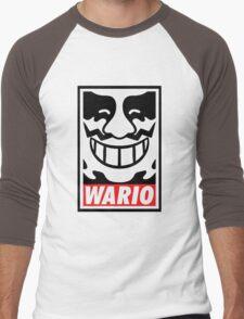 Obey Wario Men's Baseball ¾ T-Shirt
