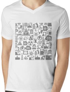 Background the industry5 Mens V-Neck T-Shirt