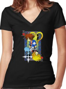 King of the Hearts Women's Fitted V-Neck T-Shirt