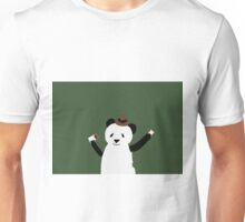 Panda Bear With two coffees and a hat Unisex T-Shirt