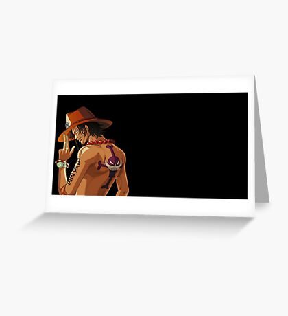 One Piece Ace Greeting Card