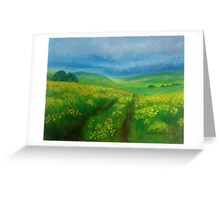 Buttercup Fields Greeting Card