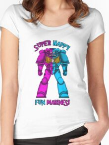 SUPER FUN MARINES. Women's Fitted Scoop T-Shirt