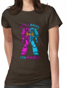 SUPER FUN MARINES. Womens Fitted T-Shirt