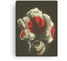 Mushroom Kingdom clicker [Red] - Mario / The Last of Us Canvas Print