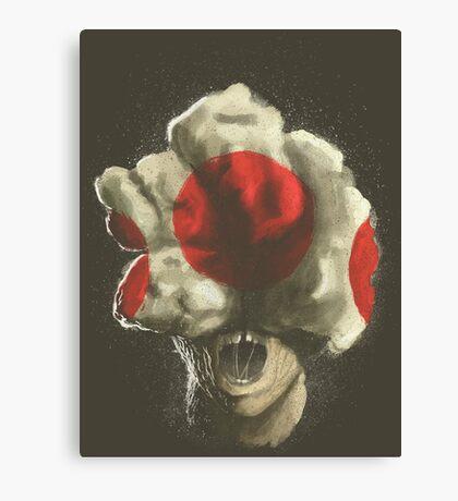 Mushroom Kingdom clicker [Red] - Mario / The Last of Us Canvas Print