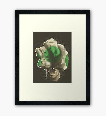 Mushroom Kingdom clicker [Green] - Mario / The Last of Us Framed Print