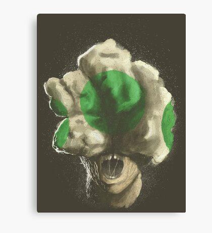 Mushroom Kingdom clicker [Green] - Mario / The Last of Us Canvas Print