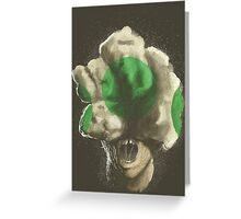 Mushroom Kingdom clicker [Green] - Mario / The Last of Us Greeting Card